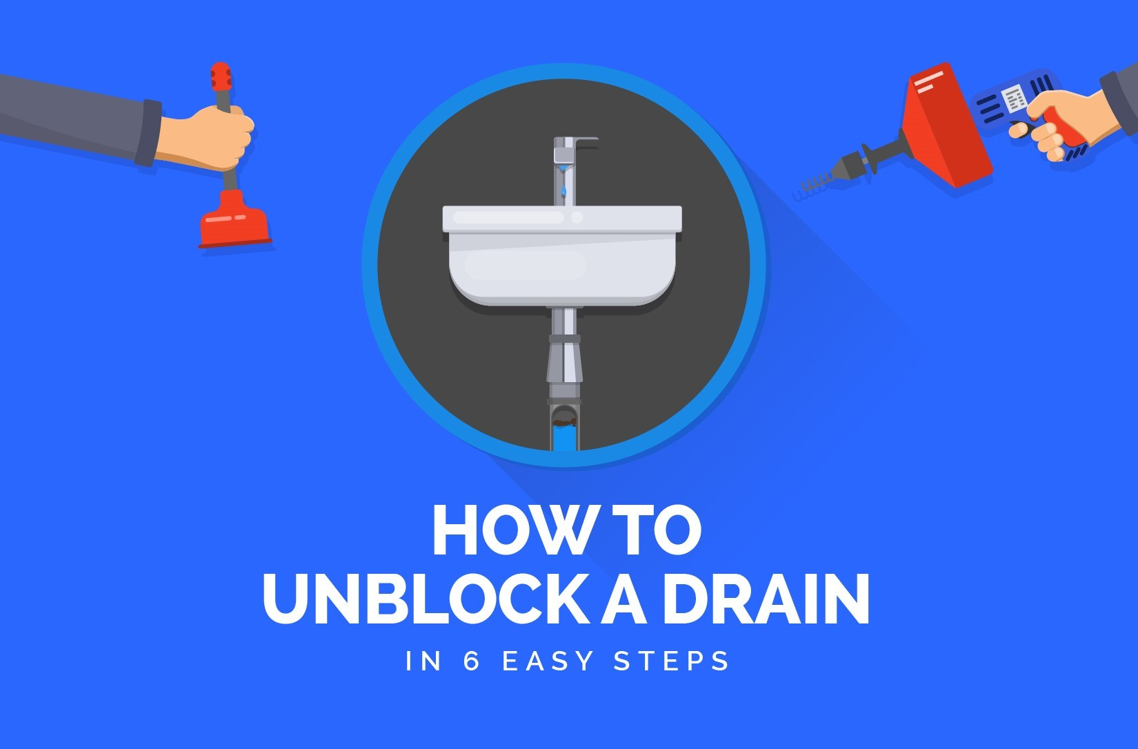 how to unblock a drain banner