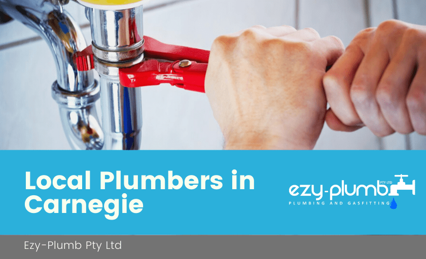 Local Plumbers Carnegie Banner